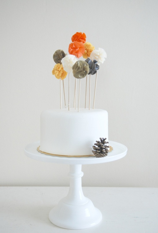 ponpon cake toppers