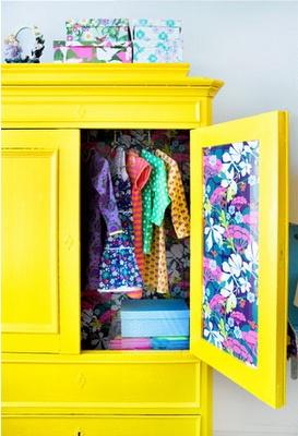 jaune armoire