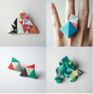 bague geometrique