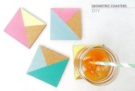 sous verres géométriques