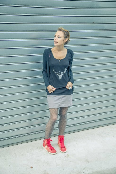 DIY tee shirt deer 8