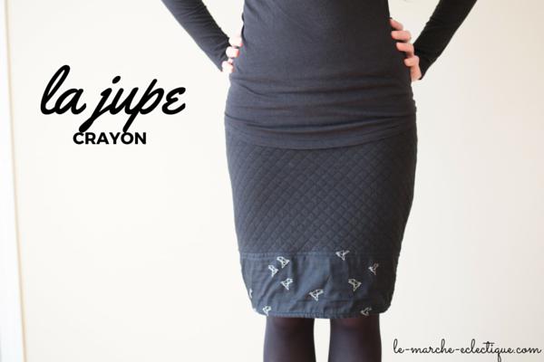 Coudre une jupe droite adaptée à mamorphologie